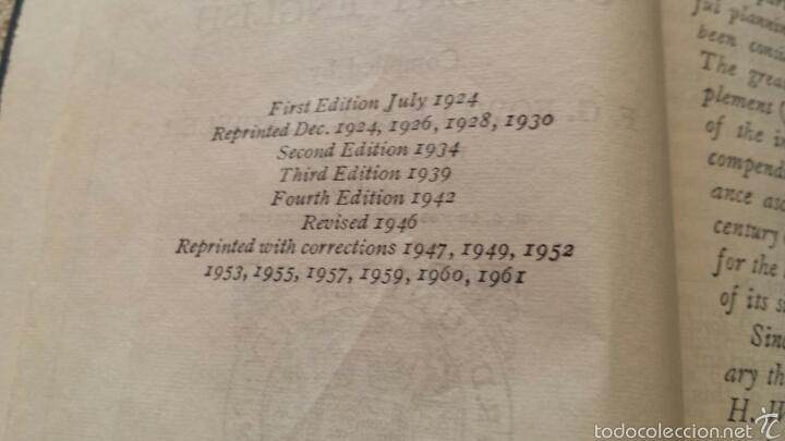 Diccionarios de segunda mano: Diccionario inglés Pocket Oxford 1961 - Foto 2 - 57892008