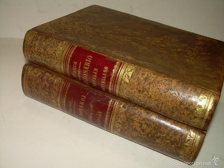 Diccionarios de segunda mano: DOS TOMOS TAPAS DE PIEL...DICCIONARIO CATALAN-CASTELLANO..CASTELLANO-CATALAN..AÑO 1.883 - 84. - Foto 2 - 58066236