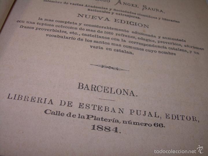 Diccionarios de segunda mano: DOS TOMOS TAPAS DE PIEL...DICCIONARIO CATALAN-CASTELLANO..CASTELLANO-CATALAN..AÑO 1.883 - 84. - Foto 6 - 58066236