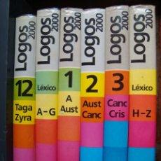 Diccionarios de segunda mano: LOGOS 2000. DICCIONARIO DE LA LENGUA CASTELLANA. 12 TOMOS + 2 TOMOS DE SUPLEMENTO ( A-G/ H-Z) LEXICO. Lote 58255628