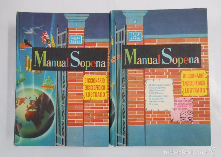 MANUAL SOPENA. DICCIONARIO ENCICLOPEDICO ILUSTRADO. 2 TOMOS VOLUMENES. TDK217 (Libros de Segunda Mano - Diccionarios)