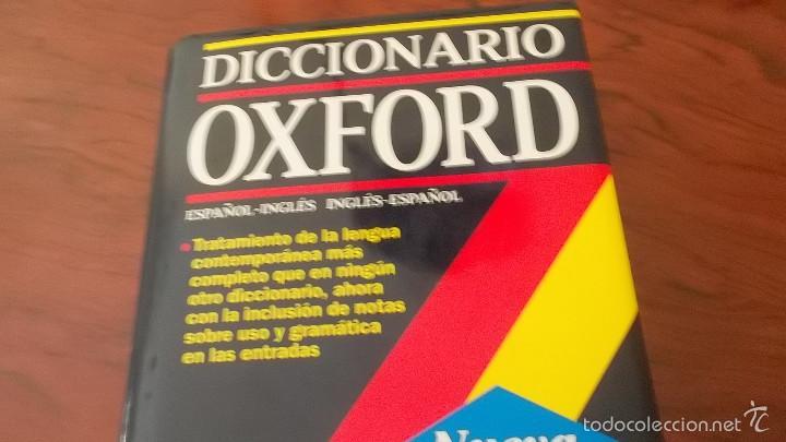 DICCIONARIO OXFORD INGLÉS ESPAÑOL, ESPAÑOL INGLÉS. GRAN FORMATO. TAPA DURA (Libros de Segunda Mano - Diccionarios)