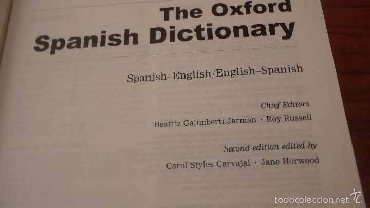Diccionarios de segunda mano: Diccionario Oxford inglés español, español inglés. gran formato. tapa dura - Foto 4 - 59912427