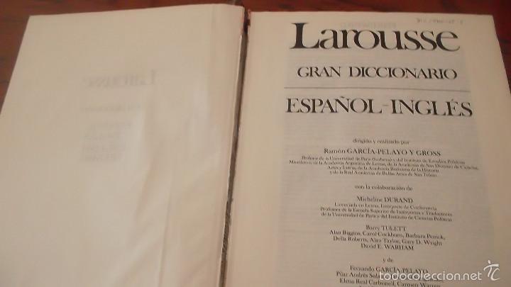 Diccionarios de segunda mano: Gran diccionario español-inglés, english-spanish larousse. tapa dura - Foto 2 - 59912963