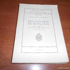Diccionarios de segunda mano: DICCIONARIO DE REFRANES, ANEJOS DEL BOLETÍN DE LA REAL ACADEMIA ESPAÑOLA, ANEJO XXX, 1975. Lote 60682415
