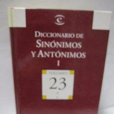 Diccionarios de segunda mano: DICCIONARIO DE SINÓNIMOS Y ANTÓNIMOS I. VOL.23. A-F. BIBLIOTECA EL MUNDO. ESPASA. 2004. 699PAGS.. Lote 60827907
