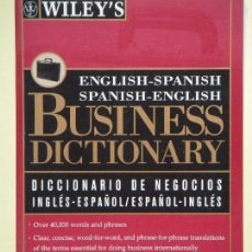 Diccionarios de segunda mano: BUSINESS DICTIONARY (ENGLISH-SPANISH) - STEVEN M. KAPLAN - WILEY AND SONS, 1996 - COMO NUEVO. Lote 61510027