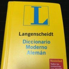 Diccionarios de segunda mano: DICCIONARIO ALEMÁN LANGENSCHEIDT. Lote 61688539