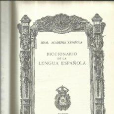 Diccionarios de segunda mano: DICCIONARIO DE LA LENGUA ESPAÑOLA. ESPASA-CALPE. MADRID. 1971. Lote 199242247