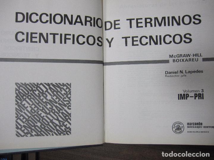 Diccionarios de segunda mano: DICCIONARIO DE TÉRMINOS CIENTÍFICOS Y TÉCNICOS. MC GRAW-HILL. BIOXAREU. MARCOMBO. IMP-PRI. VOL.3 - Foto 3 - 62486300