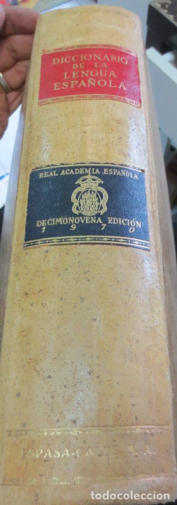 DICCIONARIO DE LA LENGUA ESPAÑOLA REAL ACADEMIA ESPAÑOLA EDIT ESPASA-CALPE AÑO 1972 (Libros de Segunda Mano - Diccionarios)