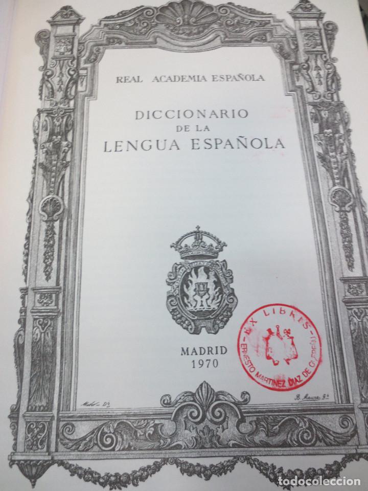 Diccionarios de segunda mano: DICCIONARIO DE LA LENGUA ESPAÑOLA REAL ACADEMIA ESPAÑOLA EDIT ESPASA-CALPE AÑO 1972 - Foto 3 - 63183976