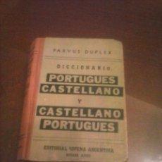 Diccionarios de segunda mano: DICCIONARIO CASTELLANO PORTUGUES. Lote 63417220