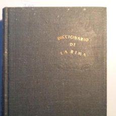 Diccionarios de segunda mano: DICCIONARIO DE LA RIMA 1946 PASCUAL BLOISE CAMPOY. . Lote 63642603