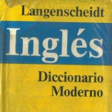 Diccionarios de segunda mano: DICCIONARIO MODERNO INGLÉS-ESPAÑOL ESPAÑOL-INGLÉS. LAGNENSCHEIDT. MADRID. 1987. Lote 63722199