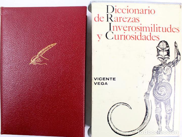 L-4082. DICCIONARIO DE RAREZAS, INVEROSIMILITUDES Y CURIOSIDADES. VICENTE VEGA. GUSTAVO GILI, 1971. (Libros de Segunda Mano - Diccionarios)