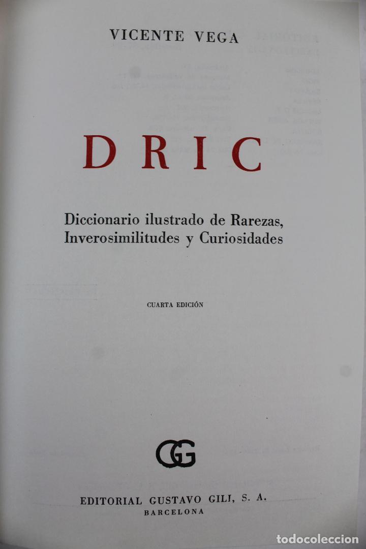Diccionarios de segunda mano: L-4082. DICCIONARIO DE RAREZAS, INVEROSIMILITUDES Y CURIOSIDADES. VICENTE VEGA. GUSTAVO GILI, 1971. - Foto 3 - 64282495