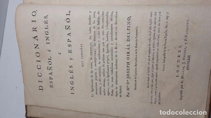 Diccionarios de segunda mano: Joseph Giral del Pino, Diccionario español e inglés,1763. - Foto 3 - 64297471