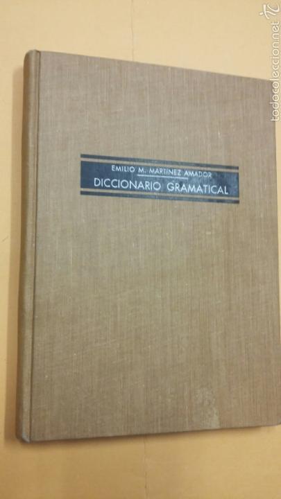 DICCIONARIO GRAMATICAL - MARTINEZ AMADOR - TDK245 (Libros de Segunda Mano - Diccionarios)