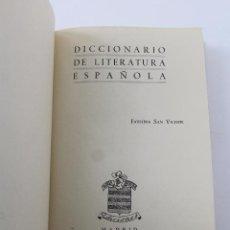 Diccionarios de segunda mano: L- 4172. DICCIONARIO DE LITERATURA ESPAÑOLA, FAUSTINA SAN VICENTE. . Lote 66517066