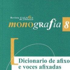 Diccionarios de segunda mano: DICIONARIO DE AFIXOS E VOCES AFIXADAS DO GALEGO MEDIEVAL. REVISTA GALEGA DE FILOLOXÍA 8. Lote 66796962