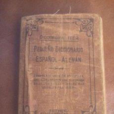 Diccionarios de segunda mano: PEQUEÑO DICCIONARIO ALEMAN ESPAÑOL ITER RAMON SOPENA.TELA. Lote 66870594