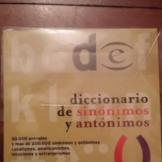 Diccionarios de segunda mano: CD-ROM, DICCIONARIO DE SINONIMOS Y ANTONIMOS. Lote 67449561