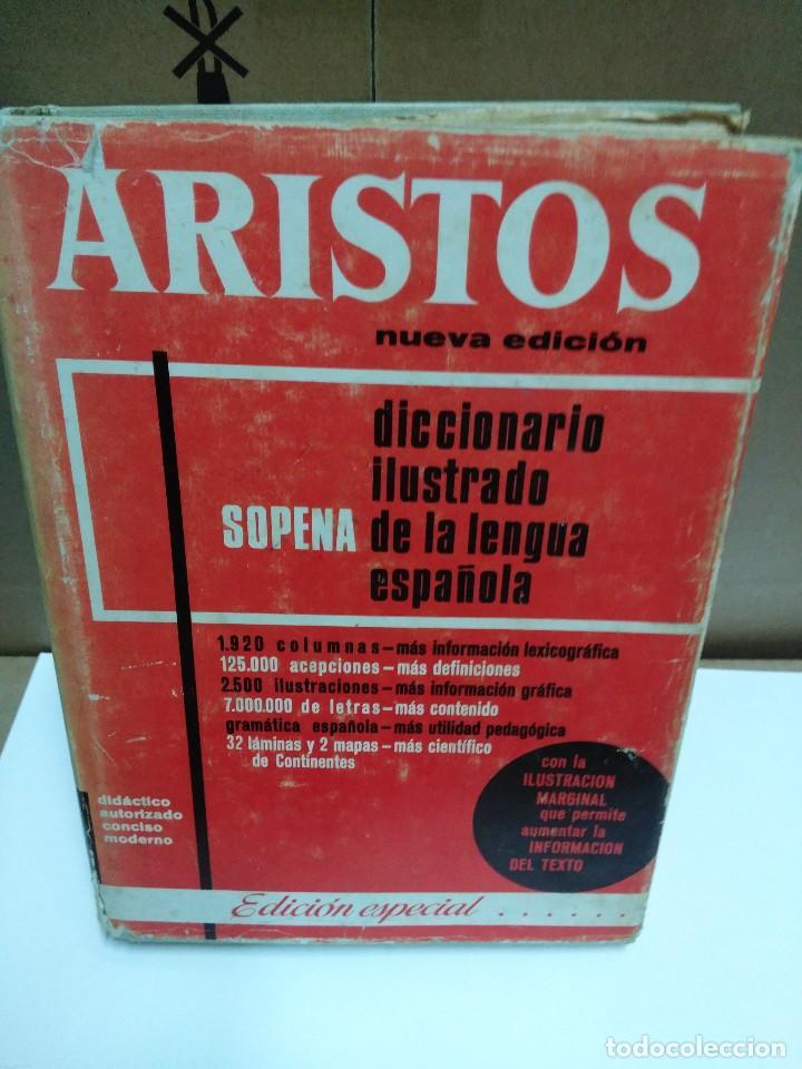 ARISTOS, DICCIONARIO ILUSTRADO DE LA LENGUA ESPAÑOLA, EDITORIAL RAMON SOPENA, AÑO 1968 (Libros de Segunda Mano - Diccionarios)