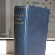 Diccionarios de segunda mano: POCKET OXFORD DICTIONARY OF CURRENT ENGLISH. OXFORD 1949. Lote 71034981