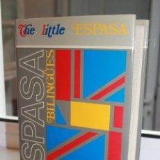 Diccionarios de segunda mano: THE LITTLE ESPASA ENGLISH-ESPAÑOL. EEPASA- BANCO BILBAO VIZCAYA 1990. Lote 71263339