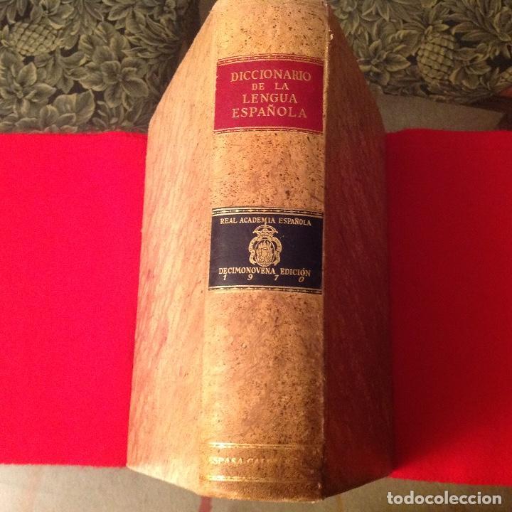 DICCIONARIO DE LA REAL ACADEMIA DE LA LENGUA , EDICIÓN DE 1970, ESPASA CALPE, MUY BIEN CONSERVADO. (Libros de Segunda Mano - Diccionarios)