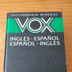 Diccionarios de segunda mano: DICCIONARIO MANUAL VOX INGLÉS-ESPAÑOL ESPAÑOL-INGLÉS (BIBLIOGRAF, 17ª ED. REIMPRESIÓN 1989)+450 PÁG.. Lote 74435055