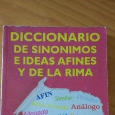 Diccionarios de segunda mano: DICCIONARIO DE SINÓNIMOS E IDEAS AFINES Y DE LA RIMA (J. HORTA) (PARANINFO, 4ª ED. 1991) +360 PÁG.). Lote 74436403