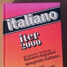Diccionarios de segunda mano: DICCIONARIO ITALIANO SOPENA ITER 2000. Lote 74615619