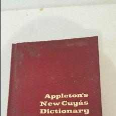 Diccionarios de segunda mano: NUEVO DICCIONARIO CUYAS - INGLES ESPAÑOL INGLES- DE APPLETON - . Lote 75155935