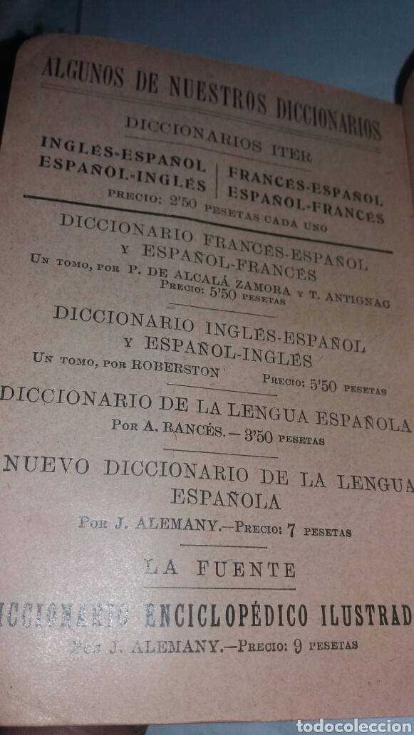 Diccionarios de segunda mano: ANTIGUO DICCIONARIO ESPAÑOL-INGLES MUY ANTIGUO - Foto 3 - 77478553