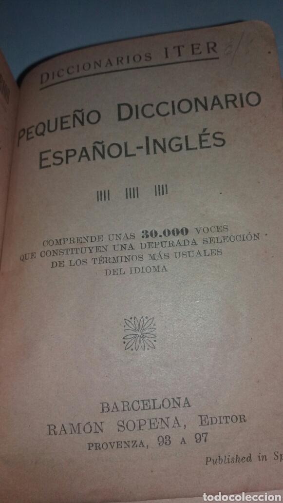 Diccionarios de segunda mano: ANTIGUO DICCIONARIO ESPAÑOL-INGLES MUY ANTIGUO - Foto 4 - 77478553