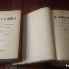 Diccionarios de segunda mano: LA LENGUA DE CERVANTES. GRAMÁTICA Y DICCIONARIO DE LA LENGUA CASTELLANA. CEJADOR. DOS TOMOS (1905-6). Lote 77891405