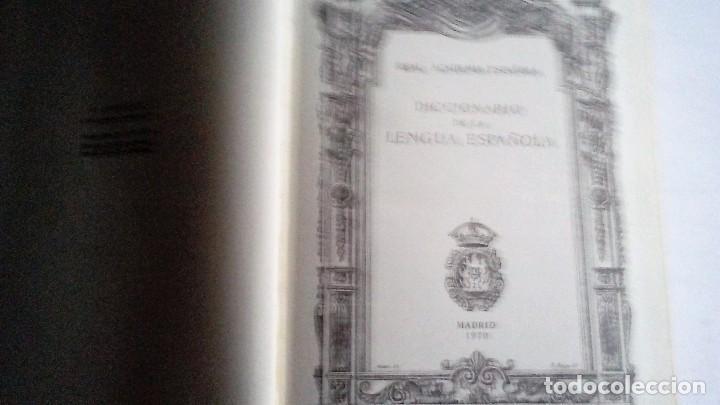 Diccionarios de segunda mano: DICCIONARIO DE LA LENGUA ESPAÑOLA - REAL ACADEMIA ESPAÑOLA DECIMONOVENA EDICION 1970 - ESPASA CALPE - Foto 2 - 178125659