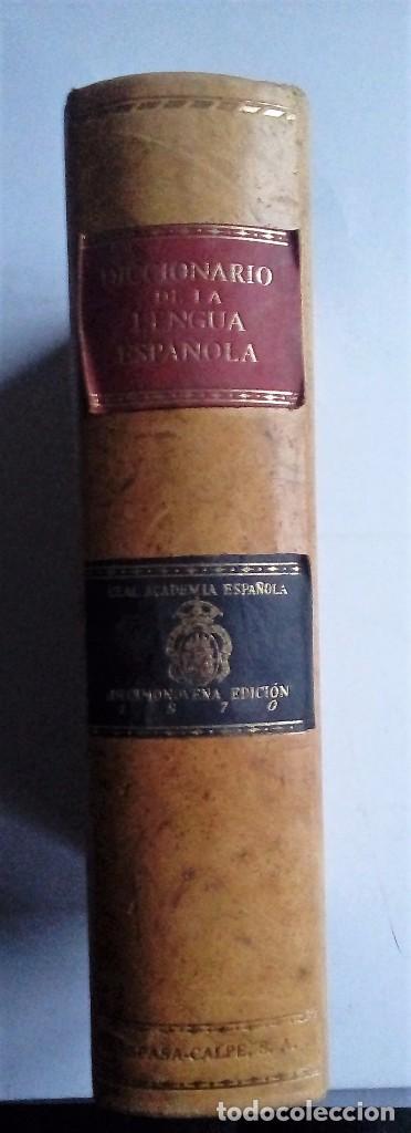 Diccionarios de segunda mano: DICCIONARIO DE LA LENGUA ESPAÑOLA - REAL ACADEMIA ESPAÑOLA DECIMONOVENA EDICION 1970 - ESPASA CALPE - Foto 4 - 178125659