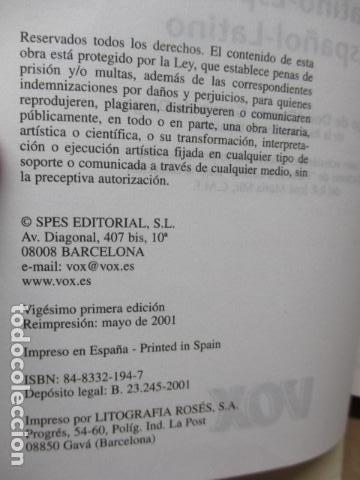 Diccionarios de segunda mano: DICCIONARIO ILUSTRADO LATINO ESPAÑOL, VOX - Foto 11 - 82022960