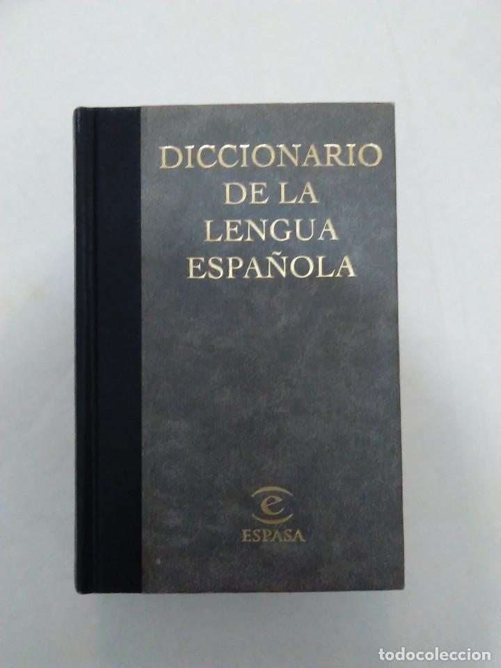DICCIONARIO DE LA LENGUA ESPAÑOLA. ESPASA. TAPA DURA. BONITA ENCUADERNACION. ESTADO DE LUJO. A ESTRE (Libros de Segunda Mano - Diccionarios)