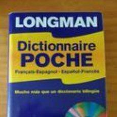 Diccionarios de segunda mano: DICTIONNAIRE POCHE LONGMAN ESPAÑOL-FRANCÉS + CD ROM (DICCIONARIO BILINGÜE) +680 PÁG.. Lote 85056984