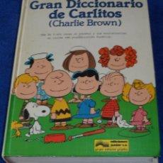 Diccionarios de segunda mano: GRAN DICCIONARIO DE CARLITOS - CHARLIE BROWN - SNOOPY - EDICIONES JUNIOR - GRIJALBO (1984). Lote 85345144