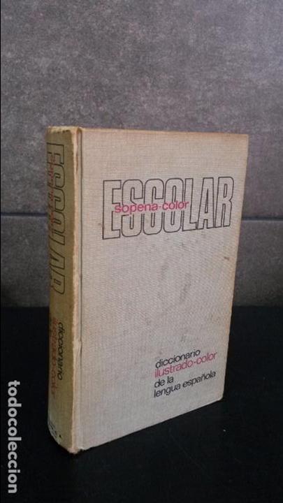 DICCIONARIO ILUSTRADO-COLOR DE LA LENGUA ESPAÑOLA. ESCOLAR SOPENA-COLOR. 1977. (Libros de Segunda Mano - Diccionarios)
