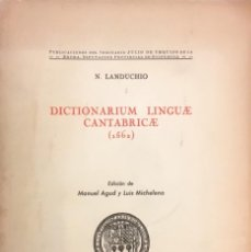 Diccionarios de segunda mano: DICTIONARIUM LINGUAE CANTABRICAE. LANDUCHIO.. Lote 86367660