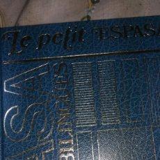 Diccionarios de segunda mano: DICCIONARIO DE FRANCÉS LE PETIT ESPASA ENCUADERNACIÓN EN PIEL. Lote 86420339