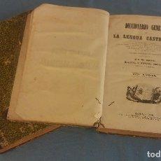 Diccionarios de segunda mano: ANTIGUOS TOMOS 1 Y 2 DICCIONARIO GENERAL LA LENGUA CASTELLANA AÑO 1855 JOSE CABALLERO. Lote 86567908