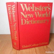 Diccionarios de segunda mano: WEBSTER'S NEW WORLD DICTIONARY, OF AMERICAN ENGLISH(THIRD COLLEGE EDITION) 1988. Lote 89363736