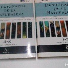 Diccionarios de segunda mano: DICCIONARIO DE LA NATURALEZA 2 TOMOS. Lote 90384000
